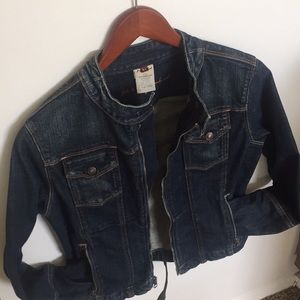 7 FOR ALL MANKIND Dark Wash Motorcycle Jean Jacket